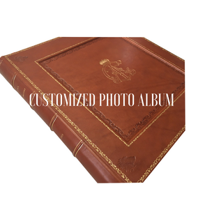 customized photo album gold print