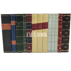 customized leather faux book