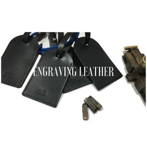 engraving leather bag wallet keychains badge