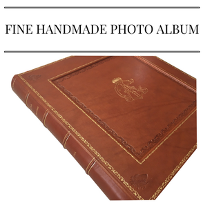 Fine handmade leather photo album