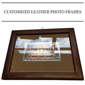 customized leather photo frames