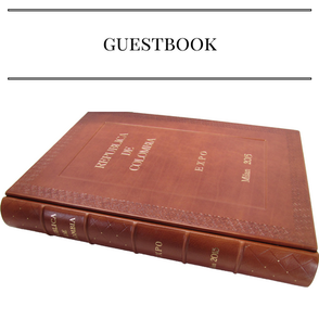 customize leather guest book