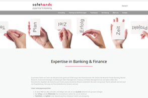 safehands, Expertise in Banking & Finance, Aarau und Zürich