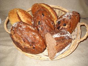 Pains  au maïs et pains vignerons de la boulangerie Habert de Selles-sur-Cher