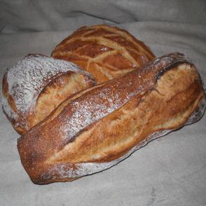 Pains spéciaux : pain rustique, pain Michonette de la boulangerie Habert de Selles-sur-Cher