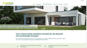 Screenshot von der Kunden Wordpress Website https://www.terrathech.ch/