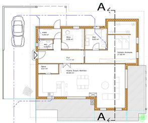 Holzhaus in Blockbauweise -Blockhaus - Werkplanung - Holzbau - Massivholzhaus - Nürnberg - Bayern - Bayern - Niedersachsen - Nordrhein Westfalen - Einfamilienhaus - Grundriss