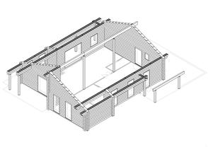 Blockhausbau  - Finnisches Blockhaus  - Werkplanung  in Finland - Blockhausbausatz