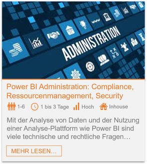 Training - Power BI Administration: Compliance, Ressourcenmanagement, Security