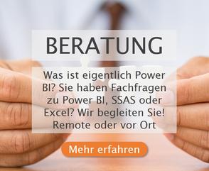 Beratung zu Power BI, Analysis Services und Excel In-House und Online