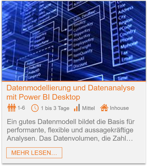 Training - Power BI Desktop: Datenmodellierung und Datenanalyse