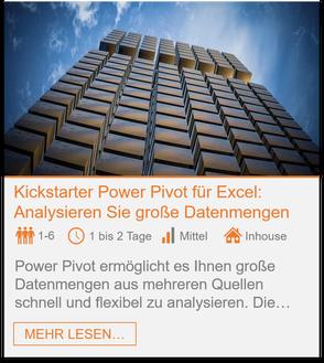 Training - Power Pivot Excel: Analysieren Sie große Datenmengen