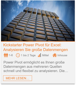 Training - Power Pivot Excel: Analysieren Sie große Datenmengen