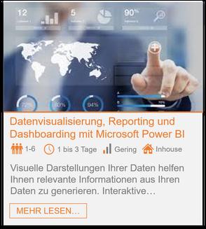 Training - Power BI: Datenvisualisierung, Reporting und Dashboarding