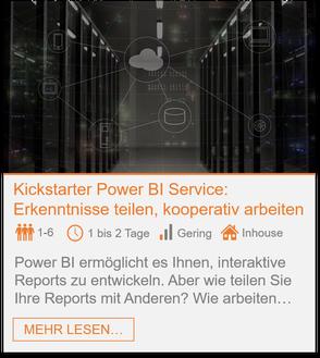 Training - Power BI Service: Erkenntnisse teilen, kooperativ arbeiten
