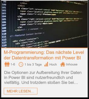 Training - Power BI M-Programmierung: Das nächste Level der Datentransformation mit Power BI