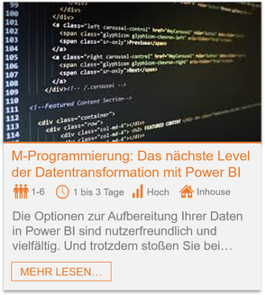 Training - Power BI M-Programmierung: Das nächste Level der Datentransformation mit Power BI