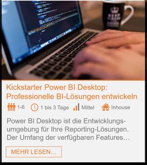 Training - Power BI Desktop: Professionelle BI-Lösungen entwickeln