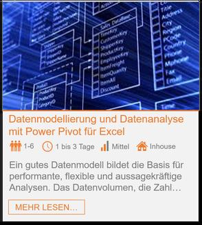 Training - Power Pivot: Datenmodellierung und Datenanalyse in Excel