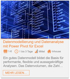 Training - Power Pivot: Datenmodellierung und Datenanalyse in Excel