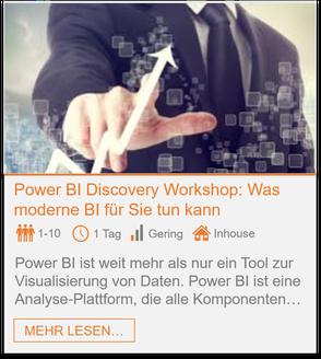 Training - Power BI Discovery Workshop: Was moderne BI für Sie tun kann