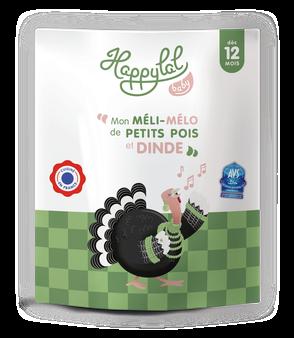 Repas complet à la viande de dinde pour bébé de 12 mois, halal et bio, cuisiné en France