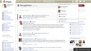 Wolfgang Grilz initiated knowledge management 2.0 in Trigon.
