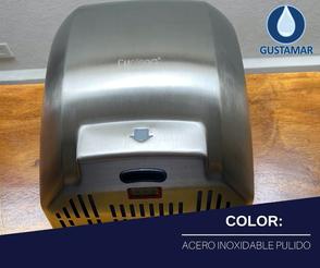 COLOR ACERO INOXIDABLE SATINADO : SECADOR DE AIRE PARA MANOS ÓPTICO CYCLONE CO4S
