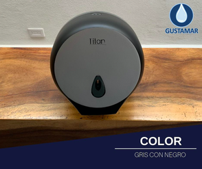 COLOR DEL DESPACHADOR DE PAPEL HIGIÉNICO TITAN MINI NEGRO 8002LB