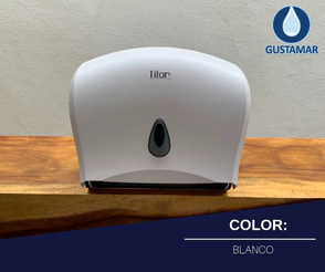 COLOR DEL DISPENSADOR DE PAPEL HIGIÉNICO DOBLE TITAN 8003 BLANCO