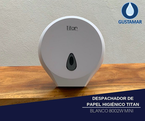 DISPENSADOR DE PAPEL HIGIÉNICO TITAN MINI BLANCO 8002W