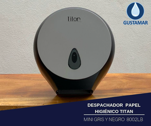DISPENSADOR DE PAPEL HIGIÉNICO TITAN MINI NEGRO 8002LB