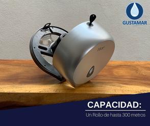 CAPACIDAD DEL DESPACHADOR DE PAPEL HIGIÉNICO TITAN MINI SILVER 8002S