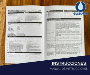 INSTRUCCIONES: SECADOR DE AIRE PARA MANOS ÓPTICO CYCLONE HORIZONTAL PULIDO