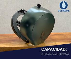 CAPACIDAD DEL DESPACHADOR DE PAPEL HIGIÉNICO TITAN MINI HUMO 8002F