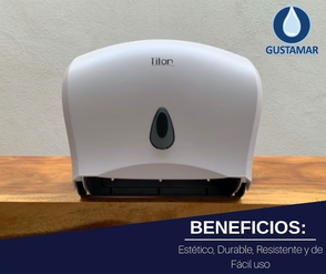 BENEFICIOS DEL DISPENSADOR DE PAPEL HIGIÉNICO DOBLE TITAN 8003W BLANCO