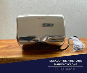 SECADOR DE AIRE PARA MANOS ÓPTICO CYCLONE HORIZONTAL PULIDO