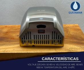 CARACTERÍSTICAS: SECADOR DE AIRE PARA MANOS ÓPTICO CYCLONE CO4S