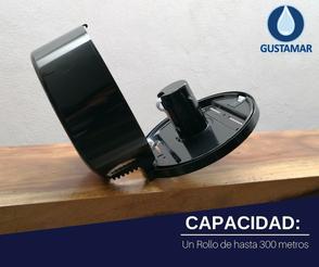 CAPACIDAD DEL DESPACHADOR DE PAPEL HIGIÉNICO JOFEL MINI BLACK - NEGRO AE57600