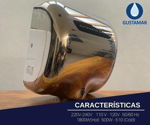 CARACTERÍSTICAS DEL SECADOR DE MANOS / SECAMANOS CYCLONE TIPO XLERATOR CO3P