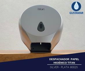 DISPENSADOR DE PAPEL HIGIÉNICO TITAN MINI SILVER 8002S