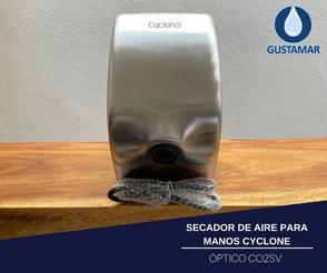 SECADOR DE AIRE PARA MANOS ÓPTICO CYCLONE SATINADO ACERO INOXIDABLE  CO2SV