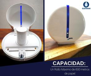 CAPACIDAD DEL DESPACHADOR DE PAPEL HIGIÉNICO JOFEL MAXI ATLÁNTICA AE37000