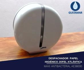 DISPENSADOR DE PAPEL HIGIÉNICO JOFEL MAXI ATLÁNTICA ANTIBACTERIAL AE38000