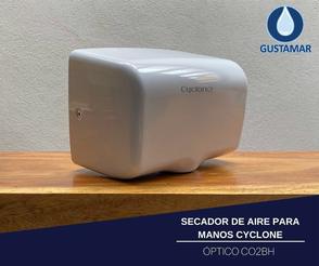 CARACTERÍSTICAS DEL SECADOR DE AIRE PARA MANOS ÓPTICO CYCLONE HORIZONTAL CO2BH