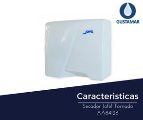 CARACTERÍSTICAS DEL SECADOR DE AIRE PARA MANOS / SECAMANOS JOFEL TORNADO ÓPTICO AA84126