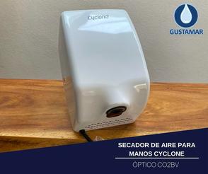 SECADOR DE AIRE PARA MANOS ÓPTICO CYCLONE VERTICAL BLANCO