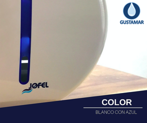 COLOR DEL DESPACHADOR DE PAPEL HIGIÉNICO JOFEL MINI ATLÁNTICA AE36000