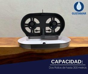 CAPACIDAD DEL DESPACHADOR DE PAPEL HIGIÉNICO DOBLE TITAN 8012W BLANCO
