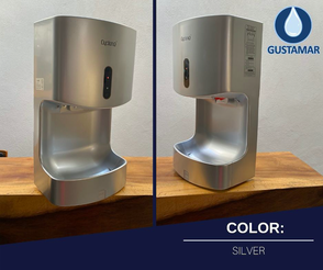 COLOR SILVER: SECADOR DE AIRE PARA MANOS ÓPTICO CYCLONE VERTICAL CO2AS ANTISALPICADURAS